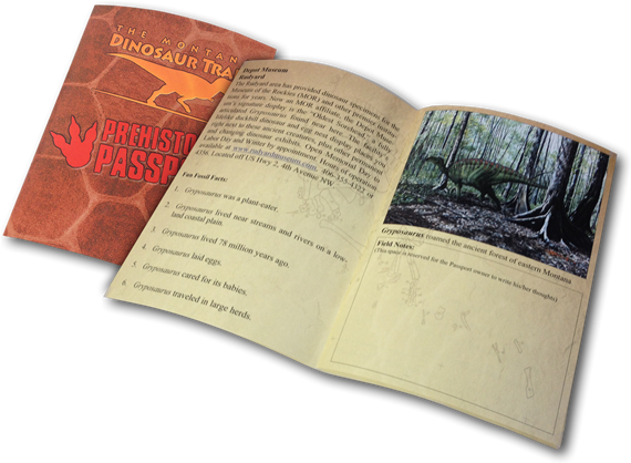 Prehistoric Passport Booklet