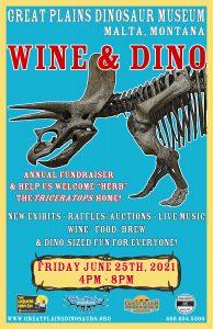 Wine & Dino Celebration @ Great Plains Dinosaur Museum | Malta | Montana | United States